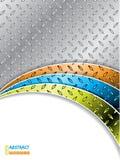 Industriële achtergrond met kleurengolven Royalty-vrije Stock Foto