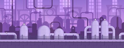 Industriële achtergrond van het parallax de klaar spel Stock Fotografie
