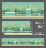 Industriële achtergrond van het parallax de klaar spel Royalty-vrije Stock Foto