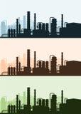 Industriële Achtergrond verwerkende landschap royalty-vrije illustratie