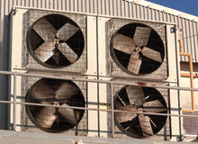 Industriële airconditioner en ventilatie Stock Foto's