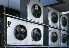 Industriële airconditioning Stock Fotografie