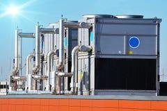 Industriële airconditioning, openlucht Stock Afbeeldingen