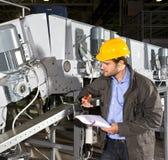 Industriële apparatuur controle Stock Foto's