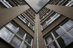 Industriële architectuur - de bureaubouw Royalty-vrije Stock Foto