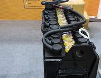Industriële batterij voor vorkheftruck stock foto