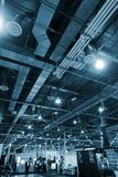 Industriële binnenlandse achtergrond Stock Foto