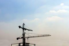 Industriële bouwkranen Stock Afbeeldingen
