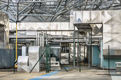 Industriële Buitenkant Stock Foto