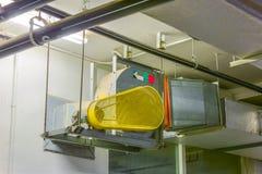 Industriële centrifugaalventilator in ventilatiesystemen Royalty-vrije Stock Afbeeldingen