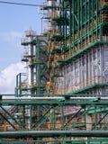 Industriële chaos van de pijpen Stock Foto