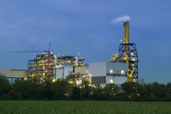 Industriële complex stock foto