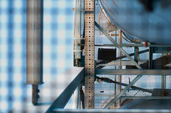 Industriële complex Stock Afbeelding