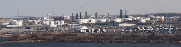 Industriële complexen royalty-vrije stock afbeeldingen