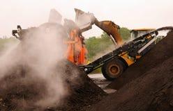 Industriële compost behandeling Stock Afbeelding