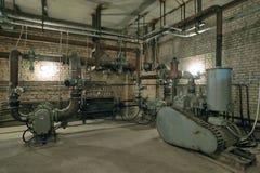 Industriële compressorpost Stock Afbeeldingen