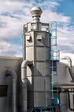 Industriële cyclonale luchtfilter Stock Afbeeldingen