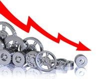 Industriële daling vector illustratie