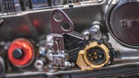 Industriële de Motormachine van de Schachtas stock foto