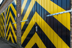 Industriële deuren stock foto