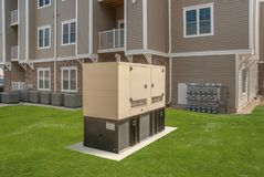 Industriële Diesel Generator Reservegenerator stock afbeelding