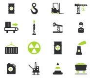 Industriële eenvoudig pictogrammen Royalty-vrije Stock Foto