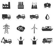 Industriële eenvoudig pictogrammen Stock Foto