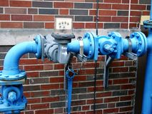 Industriële elektrische meter stock afbeeldingen