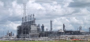 Industriële Elektroelektrische centralefaciliteit royalty-vrije stock afbeelding