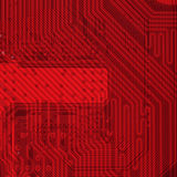 Industriële elektronische rode achtergrond Stock Afbeelding