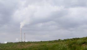 Industriële emissies van chemische gazov Royalty-vrije Stock Foto