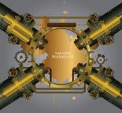 Industriële en techniekachtergrond Stock Foto