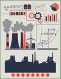 Industriële fabrieksgebouwen Stock Foto's