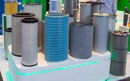 Industriële filterproducten royalty-vrije stock afbeeldingen