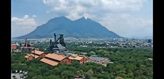 Industriële Fundidora parque Royalty-vrije Stock Afbeelding