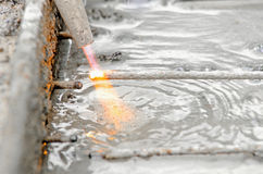 Industriële gassnijder Stock Foto's
