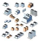 Industriële gebouwen Stock Afbeeldingen