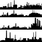Industriële gebouwen vector illustratie