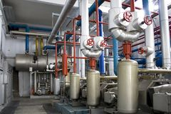 Industriële Generators Royalty-vrije Stock Foto's