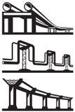 Industriële geplaatste lijnen Stock Foto's