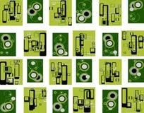 Industriële groene retro Stock Afbeeldingen