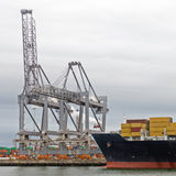 Industriële haven Royalty-vrije Stock Afbeeldingen