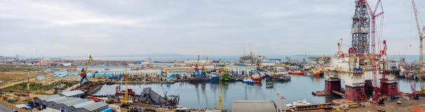 Industriële haven, Baku Stock Afbeeldingen