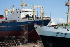 Industriële haven in Las Palmas Stock Afbeelding