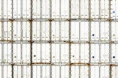 Industriële haven met containersijskasten Royalty-vrije Stock Foto's