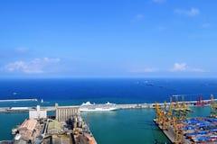 Industriële Haven van Barcelona Royalty-vrije Stock Afbeeldingen