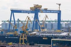 Industriële haven van Constanta Stock Afbeelding