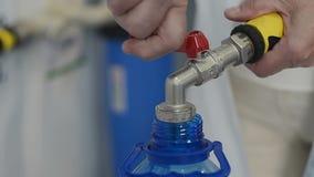 Industriële het systeemfabriek van de drinkwaterbehandeling stock videobeelden