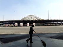 Industriële het vervoerarchitectuur van fabrieksvoorsteden in DE Mexico Mexico-City Ecatepec Royalty-vrije Stock Foto
