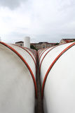 Industriële het verwarmen pijpen Stock Fotografie